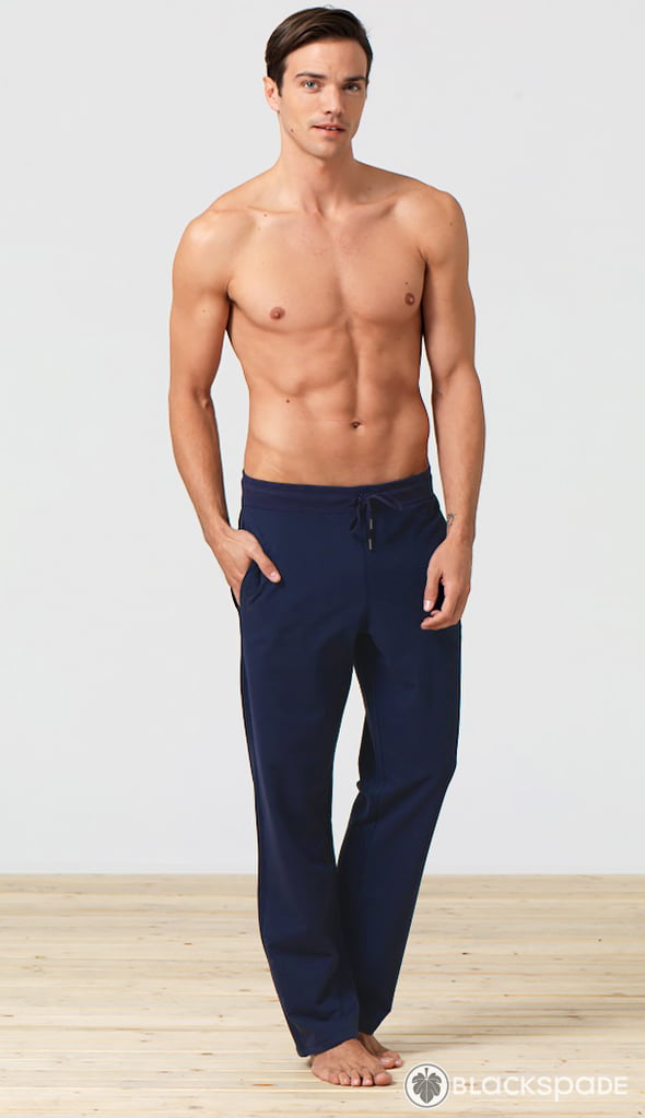 Удобные домашние брюки синего цвета для мужчин Blackspade Home b7306 Navy