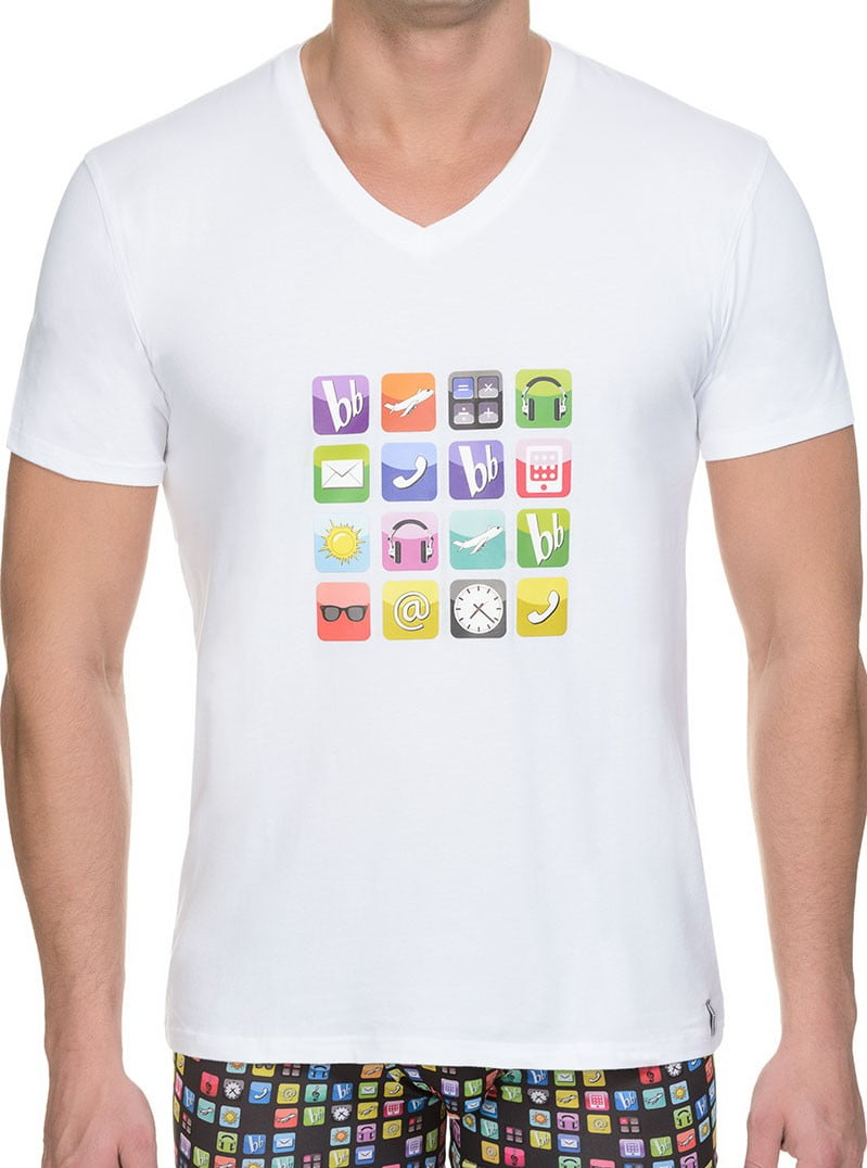 Стильная мужская футболка белого цвета с принтом bruno banani 22041315 App
