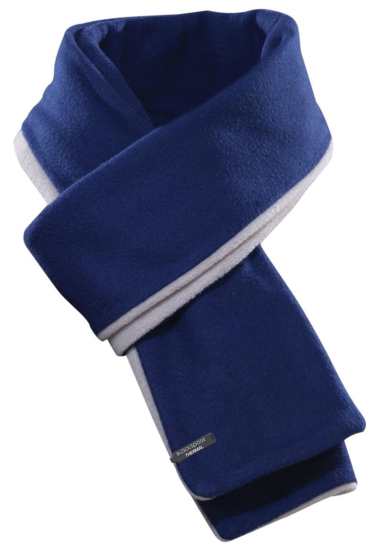 Теплый и удобный шарф синего цвета unisex BlackSpade Thermo b9982 синий