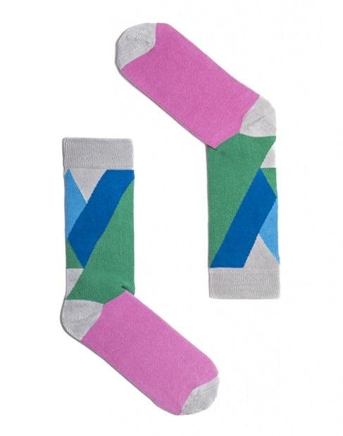 """Веселые разноцветные носки унисекс """"Monaco Purple"""" Sammy Icon"""