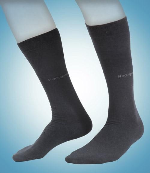 Классические мужские термоноски серого цвета II степень защиты BlackSpade Thermo b9271 серый