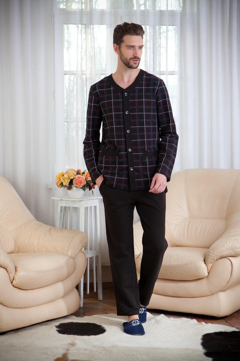 Стильная мужская пижама из высококачественного легкого трикотажа PECHE MONNAIE Аtmosphere 7 коричневый