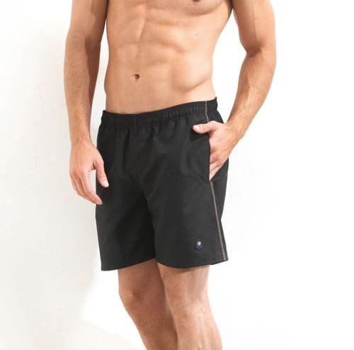 Однотонные плавательные шорты для мужчин черного цвета BlackSpade Beach b8000 черный