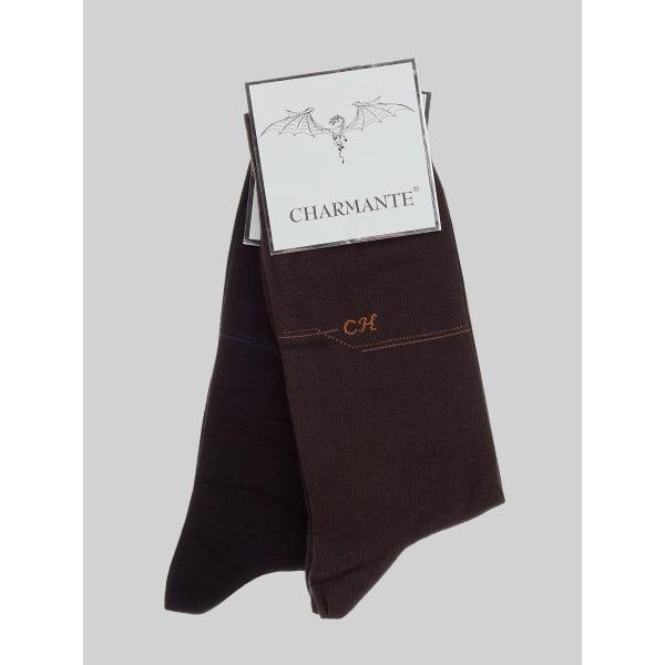 Комплект из 6 темно-коричневых летних хлопковых носков Charmante SCHM-1014