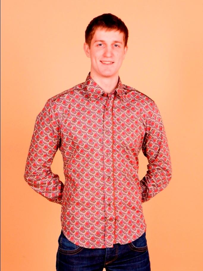 Рубашка мужская Nima Zaree с четырехцветным узором цветочком