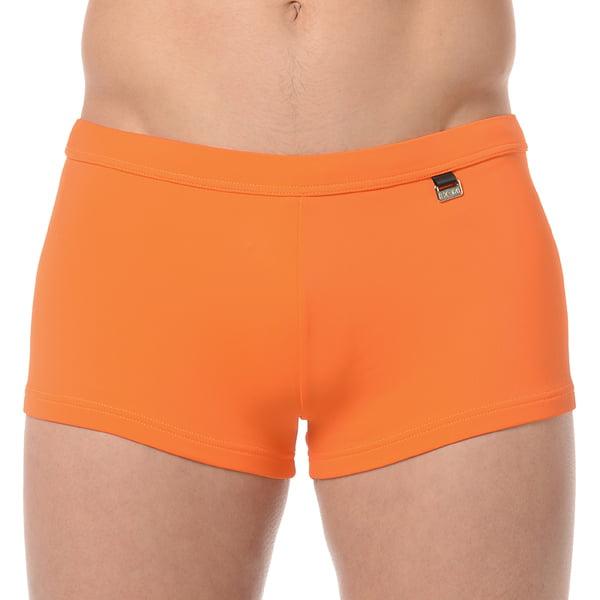 Классические оранжевые мужские пляжные плавки-хипсы с еффектом защиты от ультрафиолетовых лучей HOM Marina 07063cJX