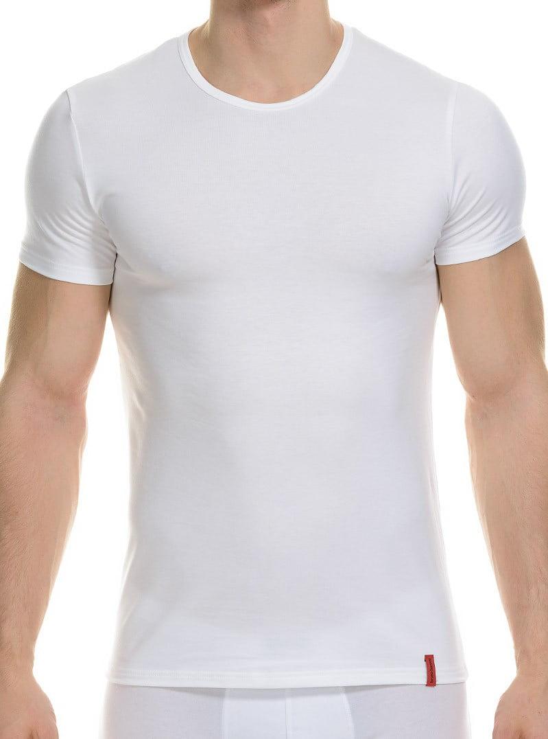 Модная мужская футболка белого цвета bruno banani Base Line 22081117бруно Белый