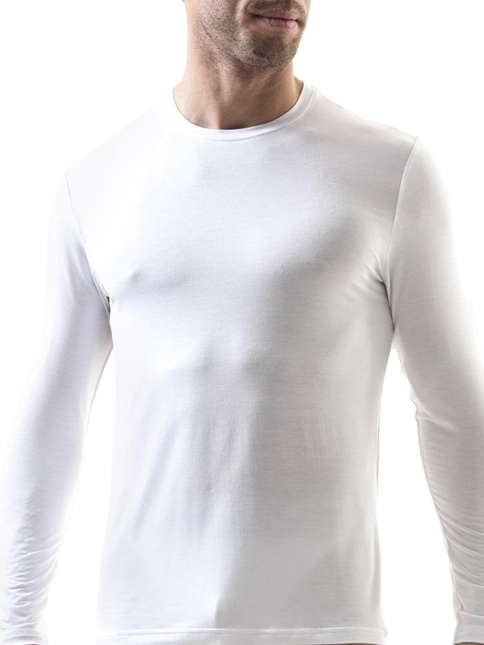 Полуприлегающая мужская футболка с длинным рукавом белого цвета BlackSpade SILVER b9307 белый