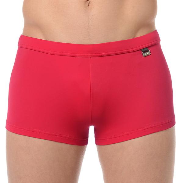 Классические красные мужские пляжные плавки-хипсы с еффектом защиты от ультрафиолетовых лучей HOM Marina 07062cYP