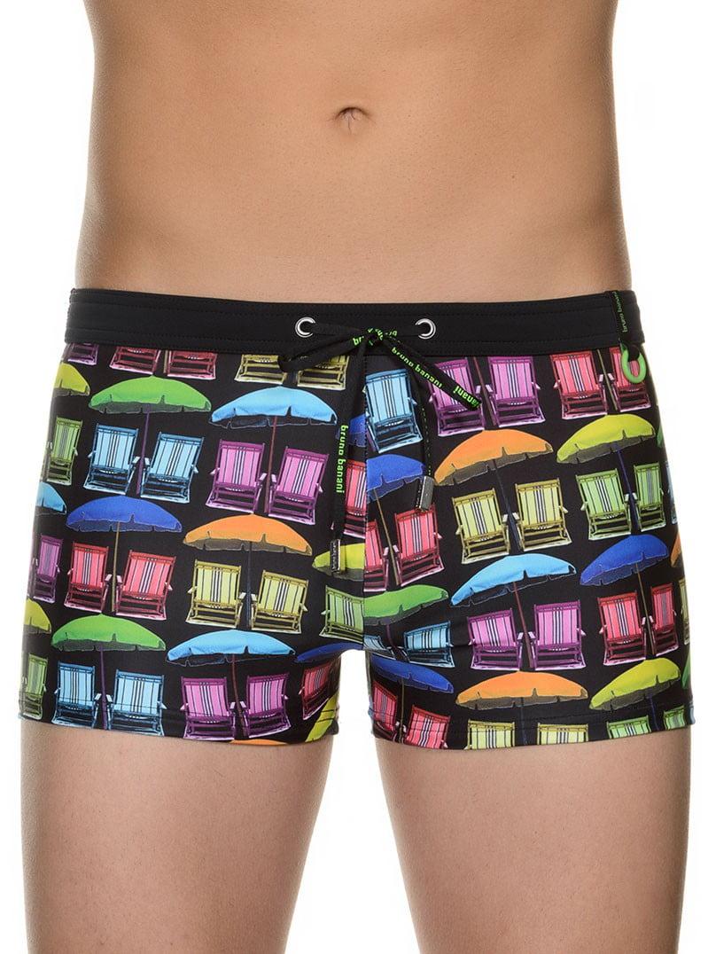 Модные яркие мужские плавки- боксеры с летним принтом bruno banani 22011373 Sunny