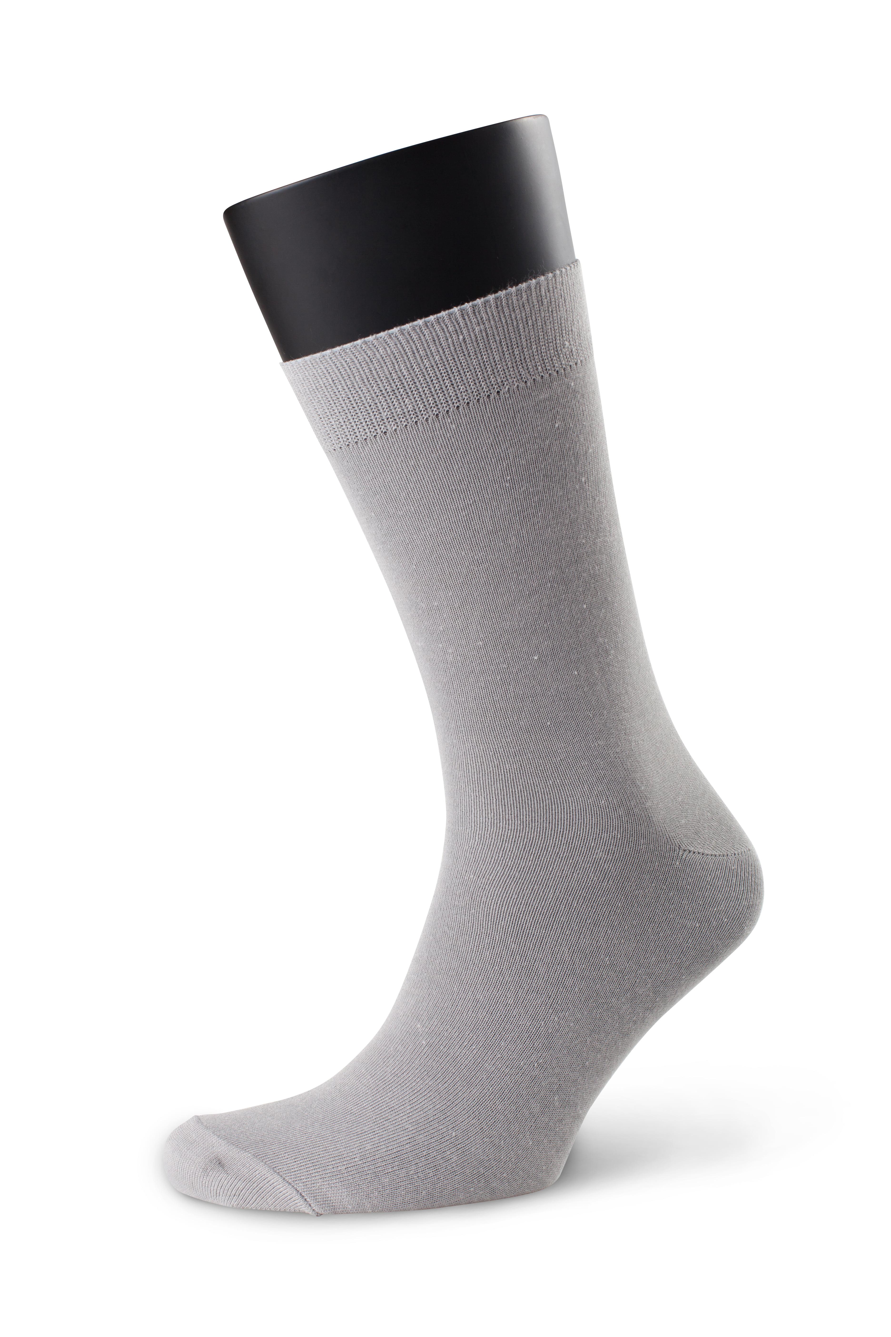 Комплект удобных однотонных мужских носков (5 шт.) из хлопка серого цвета Аvani 4М-046