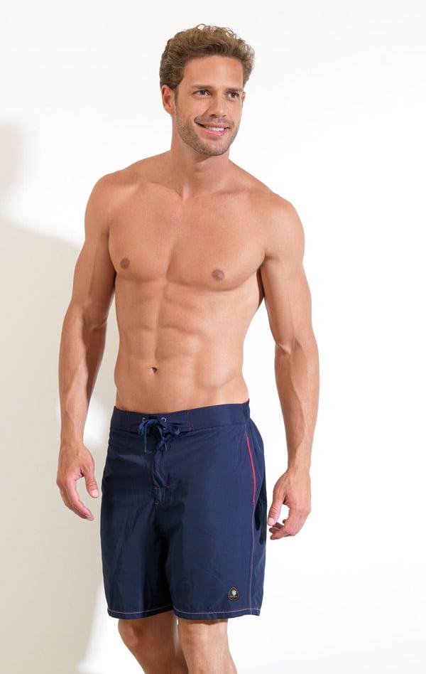 Пляжные однотонные мужские шорты синего цвета BlackSpade Beach b8015 синий