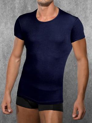 Мужская темно-синяя футболка Doreanse Ribbed Modal Collection 2545c05