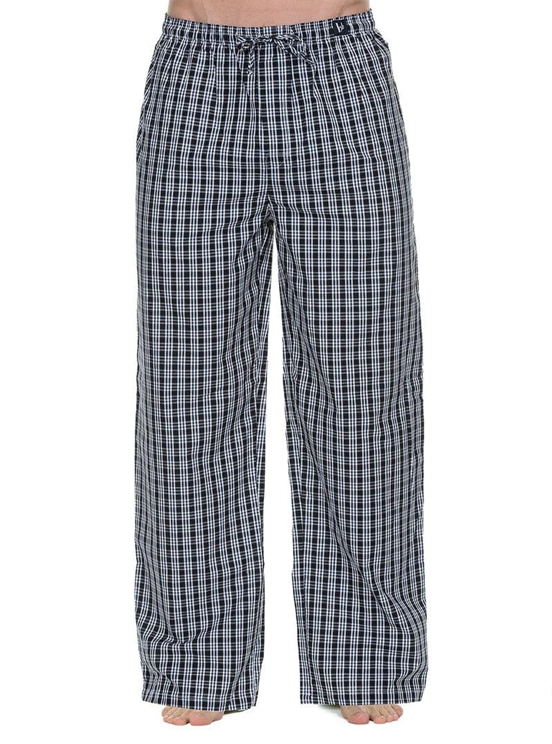 Удобные домашние мужские брюки черные в клетку bruno banani 22021345