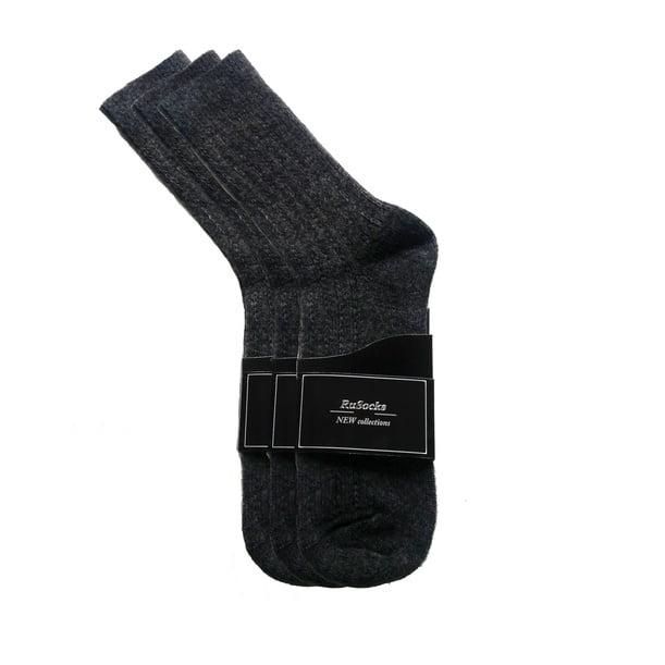 """Комплект из 5 черных/серых мужских носков из шерсти премиум класса """"RuSocks"""" New collection M-590"""
