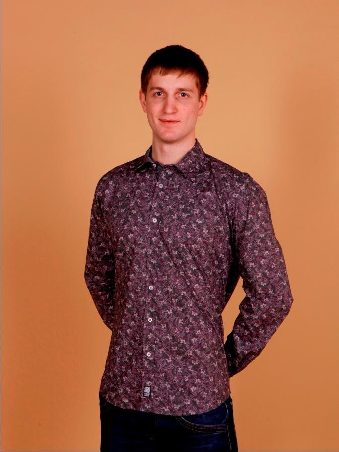Рубашка мужская Nima Zaree с трехцветным узором цветочком