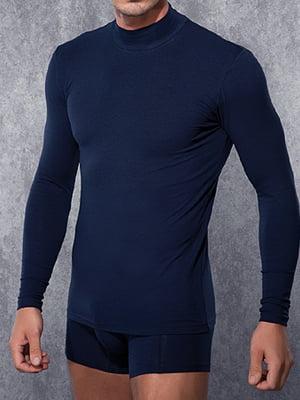 Мужская синия футболка с длинными рукавами и воротником стойкой Doreanse Long Sleeve 2930c05