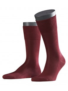 Носки из шотландской нити с хлопчатобумажной стелькой с элементами ручной работы темно-бордового цвета Falke 14662 Tiago (муж.) Бордовый