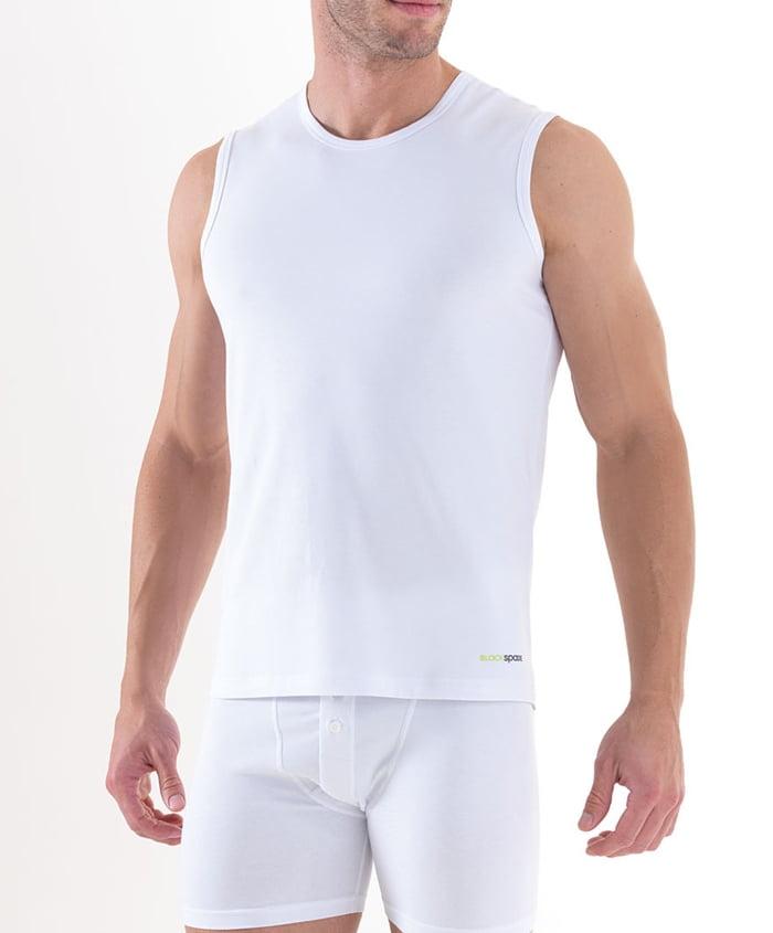 Мягкий мужской танг-топ белого цвета BlackSpade TENDER COTTON b9234 белый