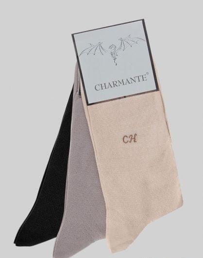 Комплект из 6 летних хлопковых носков цвета слоновой кости Charmante SCHM-1019