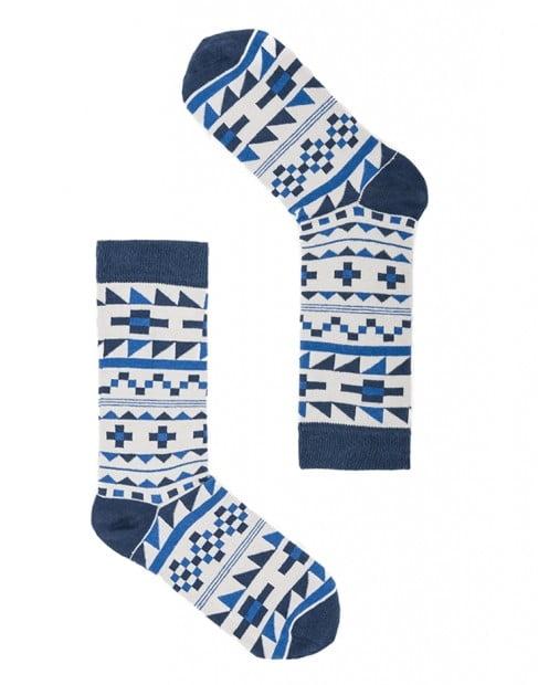 "Веселые белые носки унисекс ""Stockholm"" Sammy Icon"