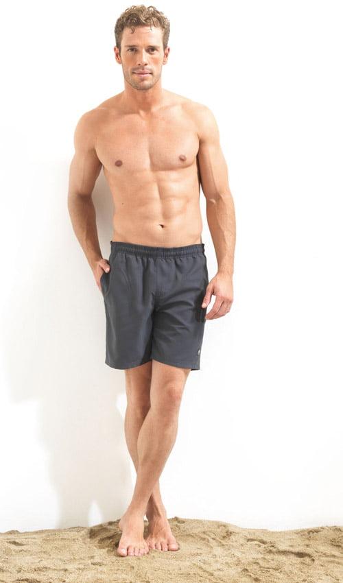 Однотонные плавательные шорты для мужчин серого цвета BlackSpade Beach b8000 серый