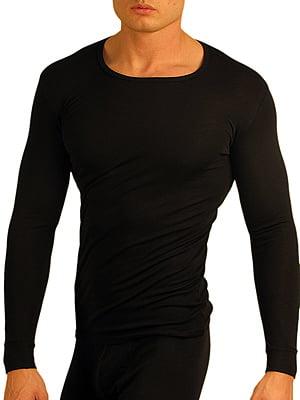 Теплая мужская футболка с длинным рукавом «Doreanse 2960-01 Thermo» черная