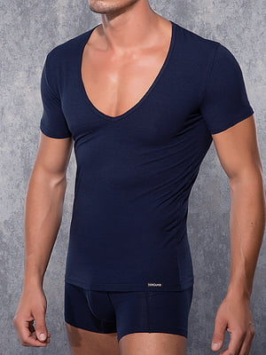 Мужская фиолетовая футболка с широким воротником Doreanse Macho Style 2820c56