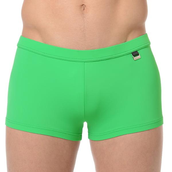 Классические зеленые мужские пляжные плавки-хипсы с еффектом защиты от ультрафиолетовых лучей HOM Marina 07062cKB