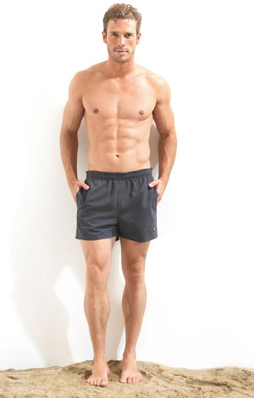 Черные плавательные шорты для мужчин (укороченные) BlackSpade Beach b8001 черный