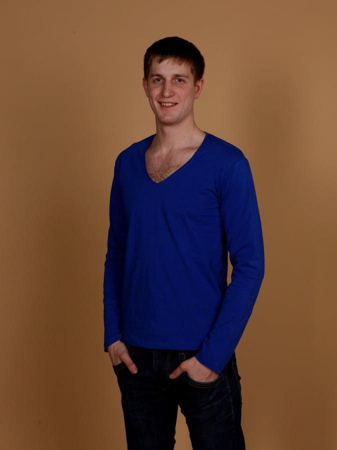 мужская футболка макси 08752 синяя
