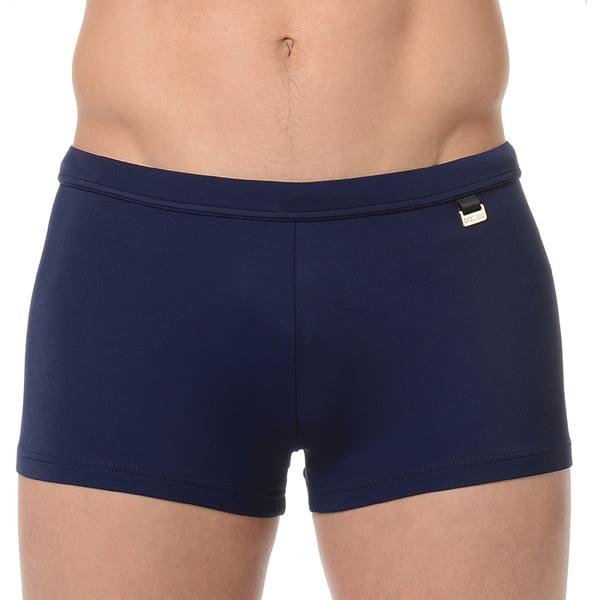 Классические темно-синие мужские пляжные плавки-хипсы с еффектом защиты от ультрафиолетовых лучей HOM Marina 07062cRA