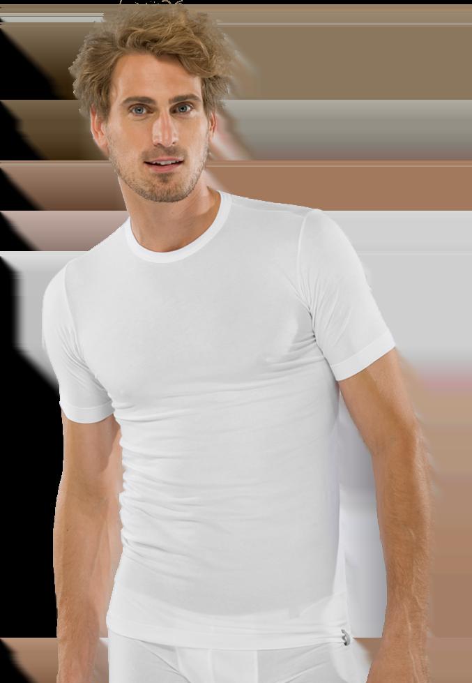 Стильная мужская футболка белого цвета SCHIESSER 205430шис Белый