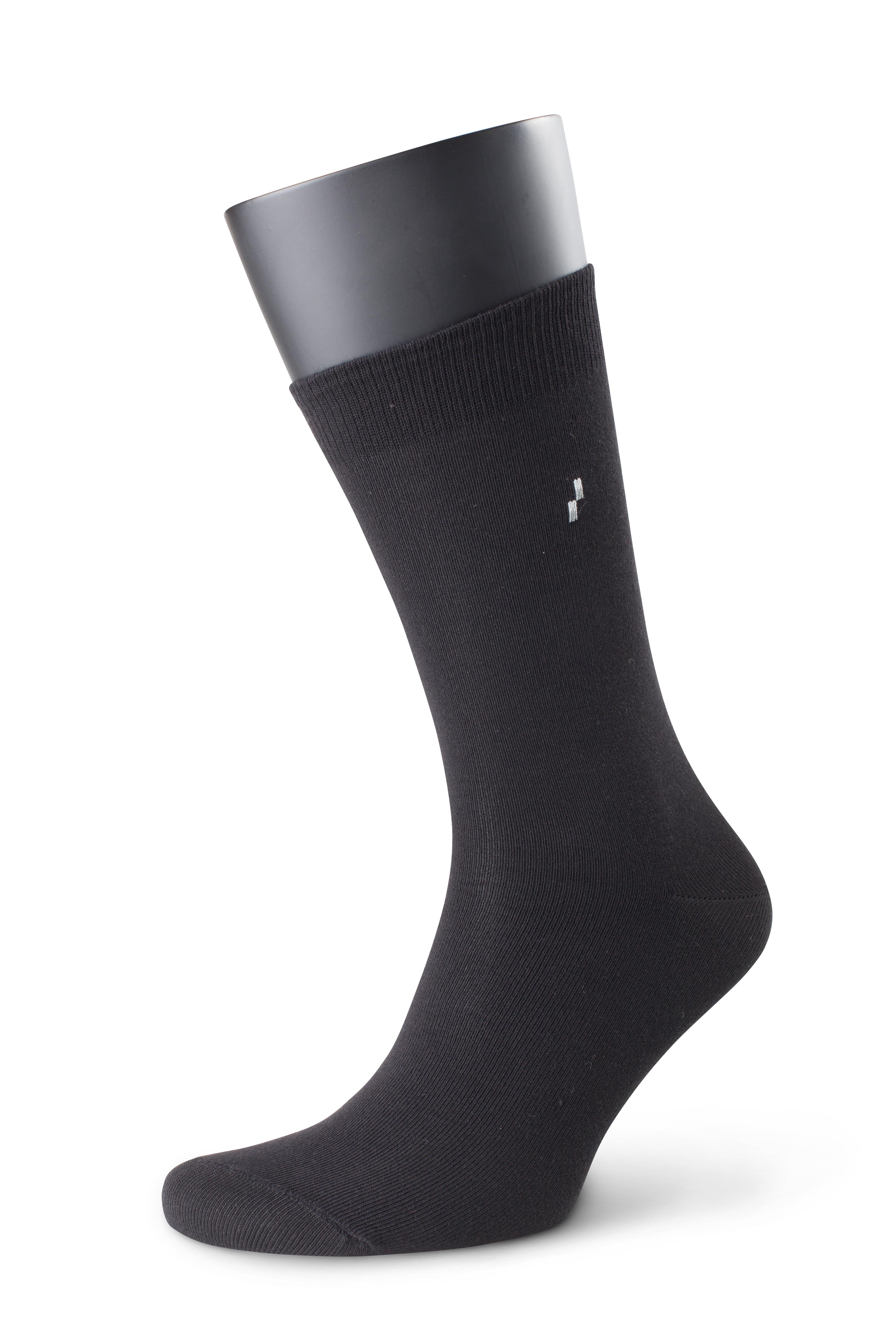 Комплект стильных мужских носков (5 шт.) из хлопка черного цвета Аvani 4М-044