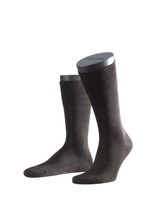 Носки из шотландской нити с хлопчатобумажной стелькой с элементами ручной работы темно- коричневого цвета Falke 14662 Tiago (муж.)