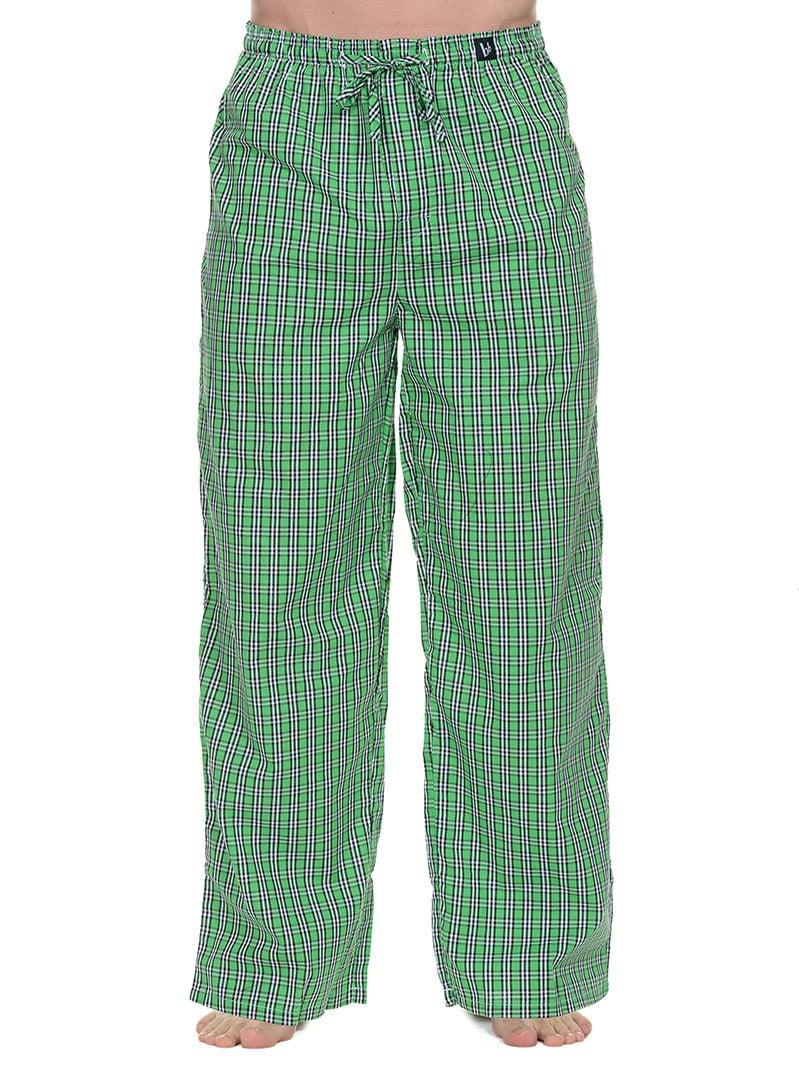 Удобные домашние мужские брюки зеленые в клетку bruno banani 22021345