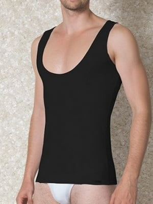 Мужская черная майка с широким вырезом Doreanse For Everyday and Sport 2260c01
