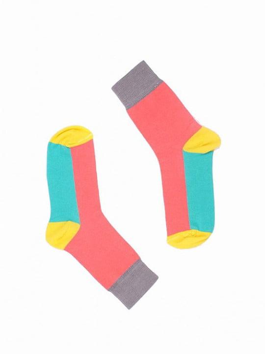 "Веселые красные носки унисекс ""Lutry pink"" Sammy Icon"