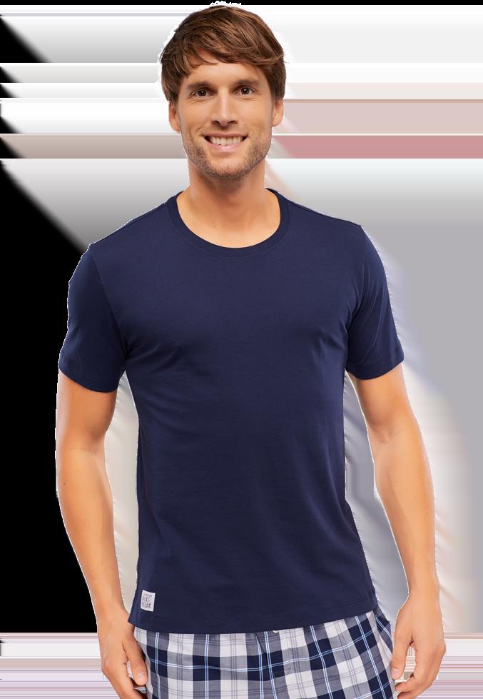 Стильная и удобная мужская футболка из хлопка SCHIESSER 146856шис Синий