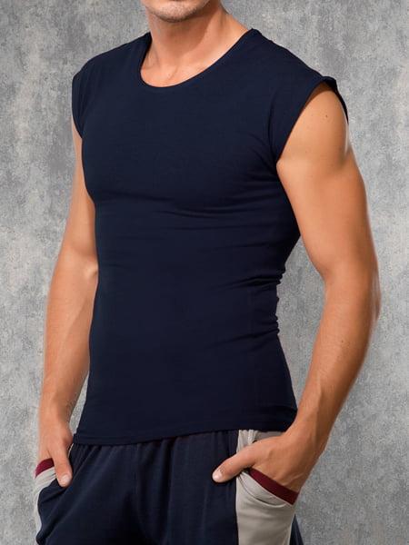 Мужская современная безрукавка с широкими плечами темно-синего цвета Doreanse For Everyday and Sport 2233с05