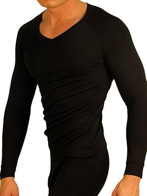 Теплая мужская футболка с длинным рукавом «Doreanse 2980-01 Thermo Comfort» черная