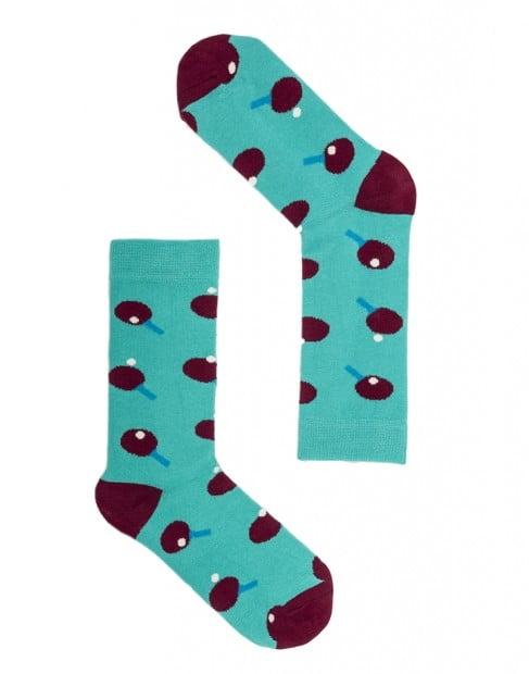 "Веселые голубые носки унисекс ""Matchpoint"" Sammy Icon"