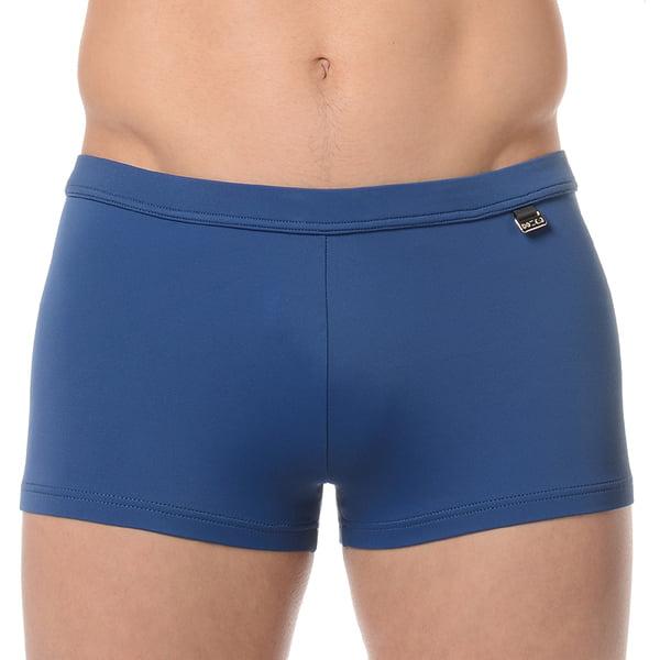 Классические синие мужские пляжные плавки-хипсы с еффектом защиты от ультрафиолетовых лучей HOM Marina 07062cBI