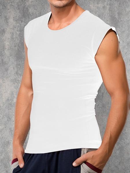 Мужская стильная безрукавка с широкими плечами белого цвета Doreanse For Everyday and Sport 2233с02