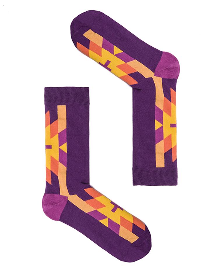 """Веселые фиолетовые носки унисекс """"Cruz Purple"""" Sammy Icon"""