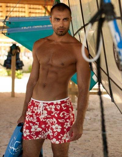 Мужские пляжные шорты с рисунком Сharmante MSH1119 Aloha