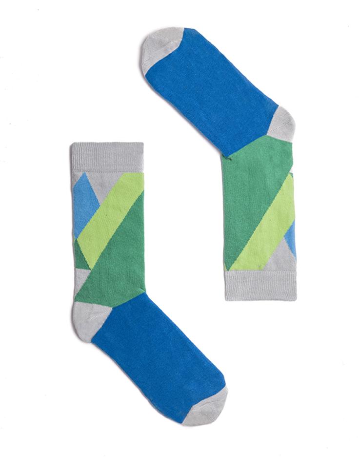 """Веселые разноцветные носки унисекс """"Monaco Green"""" Sammy Icon"""