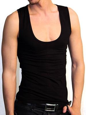 Мужская черная майка с широким вырезом Doreanse Macho Style 2015c01