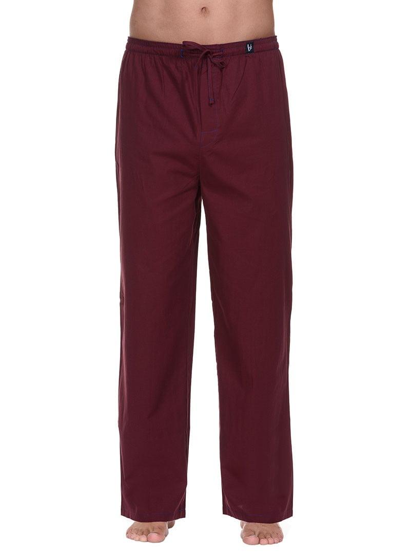 Удобные домашние мужские брюки бордового цвета bruno banani 22021391 Habitat Men