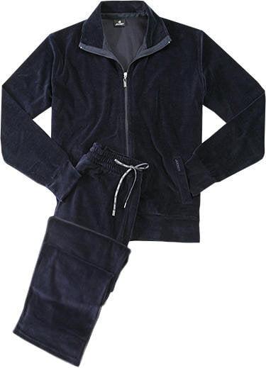 Стильный мужской комплект одежды для дома из хлопка синего цвета Jockey Комплект/ 50301 (Фуфайка+Брюки) (муж.) Синий
